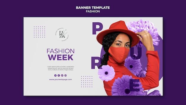 Plantilla de banner de moda