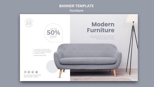 Plantilla de banner de muebles