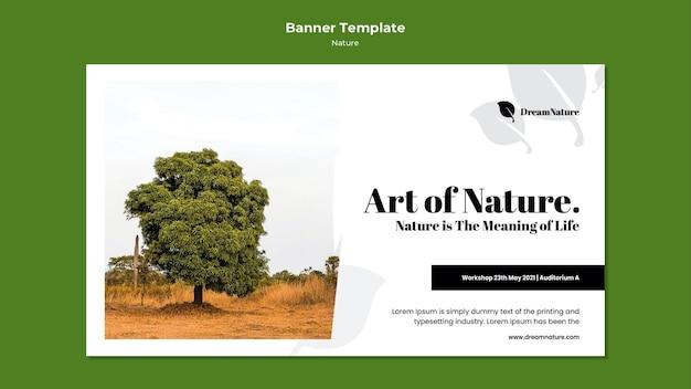 Plantilla de banner de naturaleza