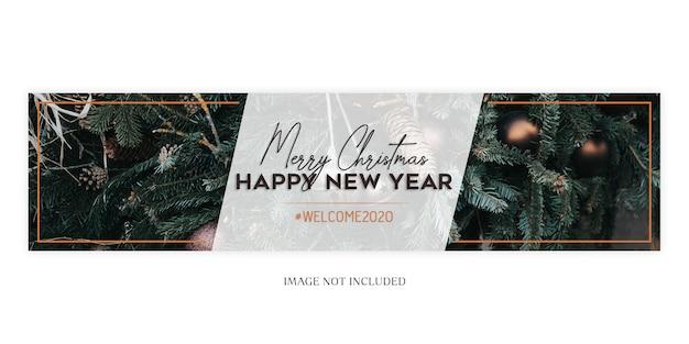 Plantilla de banner de navidad y año nuevo