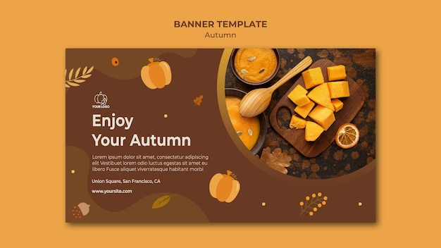 Plantilla de banner otoño fest