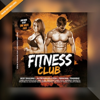 Plantilla de banner de power fitness