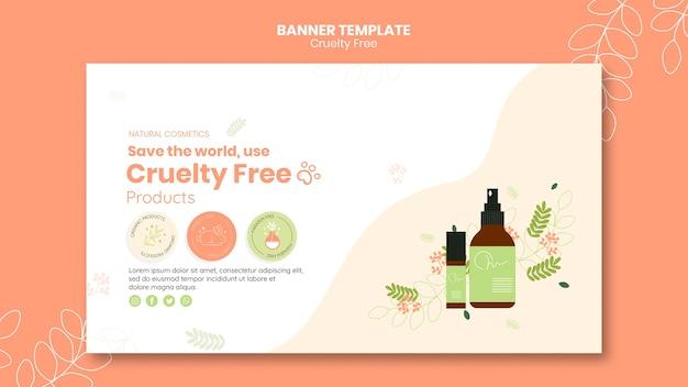 Plantilla de banner de productos libres de crueldad