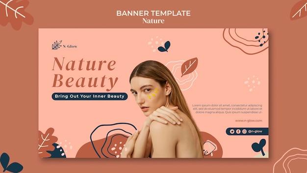 Plantilla de banner de productos naturales para el cuidado de la piel