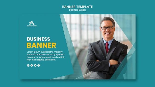 Plantilla de banner profesional de negocios