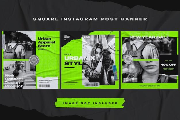 Plantilla de banner de publicación de instagram de muebles