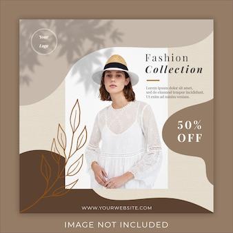 Plantilla de banner de publicación de promoción de moda