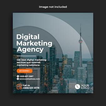 Plantilla de banner de publicación de redes sociales de marketing digital instagram