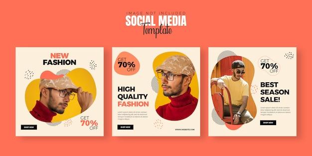 Plantilla de banner de publicación de redes sociales de moda