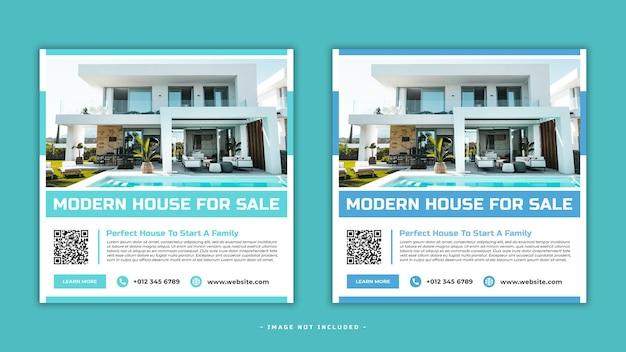 Plantilla de banner de publicación de redes sociales de venta de casa psd premium