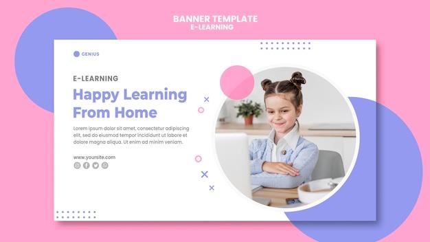 Plantilla de banner publicitario de e-learning