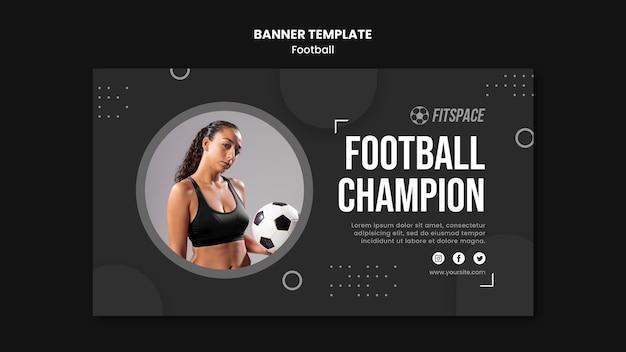 Plantilla de banner publicitario de fútbol