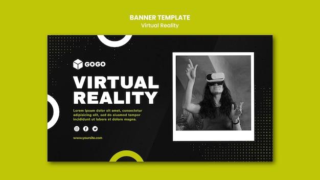 Plantilla de banner de realidad virtual
