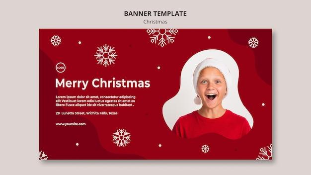 Plantilla de banner de rebajas de navidad