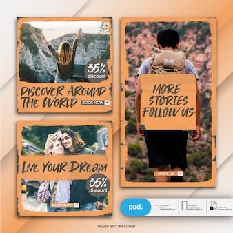 Plantilla de banner de redes sociales de marketing empresarial