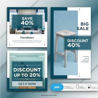Plantilla de banner de redes sociales de marketing de productos