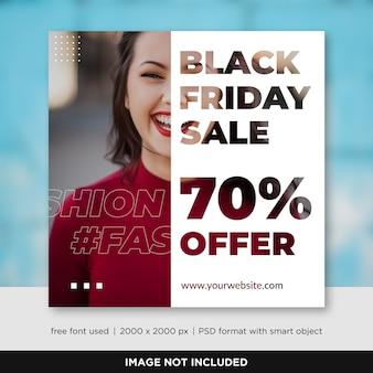Plantilla de banner de redes sociales de venta de viernes negro