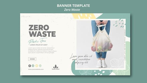 Plantilla de banner de residuos cero