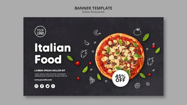 Plantilla de banner de restaurante italiano