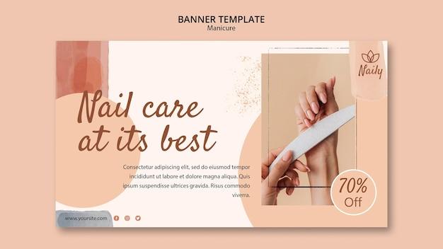 Plantilla de banner para salón de uñas