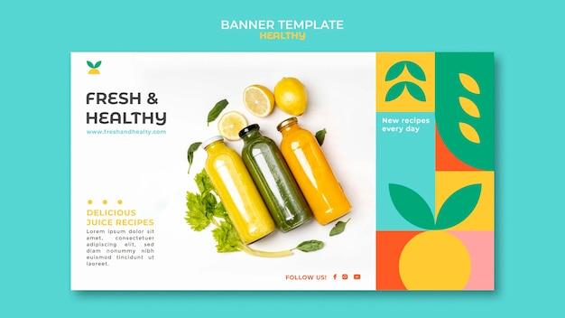 Plantilla de banner saludable