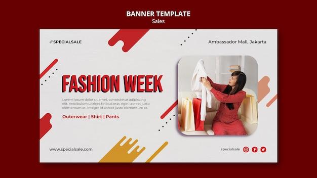 Plantilla de banner de la semana de la moda