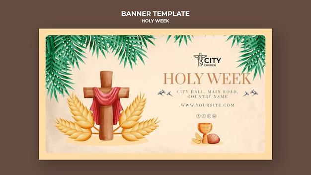 Plantilla de banner de semana santa