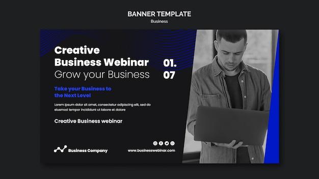 Plantilla de banner de seminario web empresarial