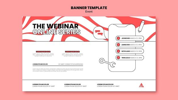 Plantilla de banner de seminario web en línea para eventos