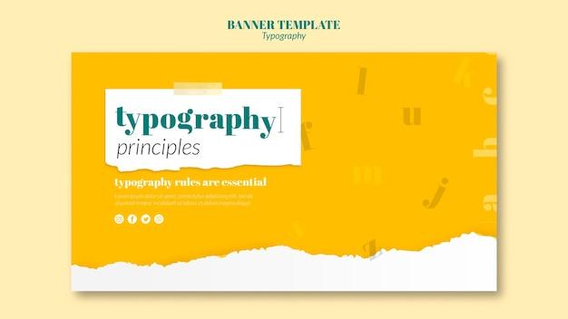 Plantilla de banner de servicio de tipografía