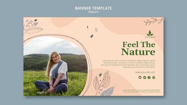 Plantilla de banner siente la naturaleza