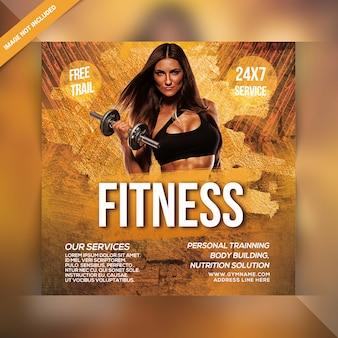 Plantilla de banner social de fitness