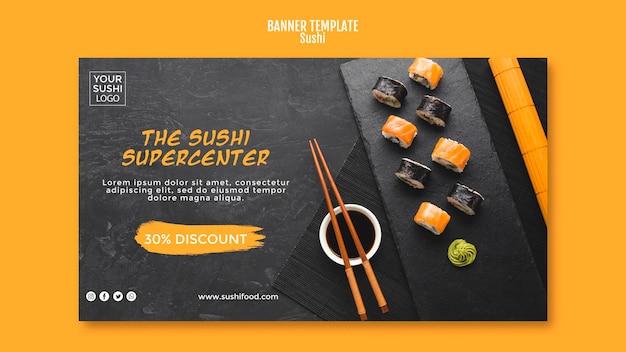 Plantilla de banner de sushi
