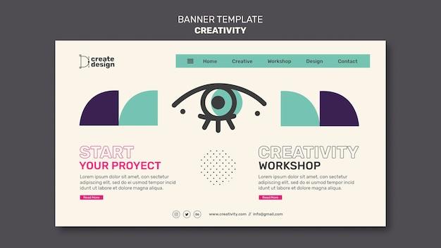 Plantilla de banner de taller de creatividad