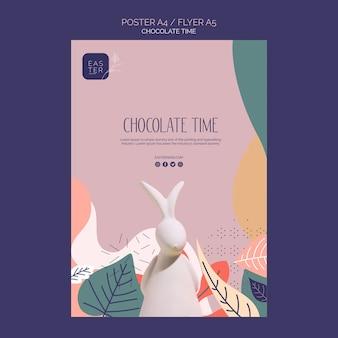 Plantilla de banner con tema de chocolate