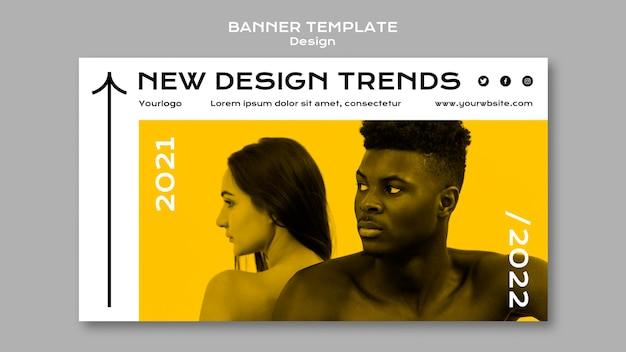 Plantilla de banner de tendencias de diseño