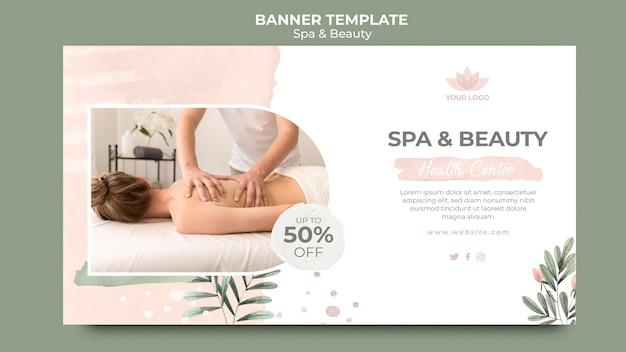 Plantilla de banner para terapia de spa