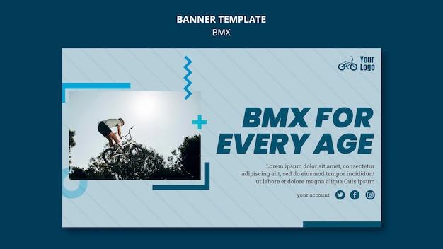 Plantilla de banner tienda bmx
