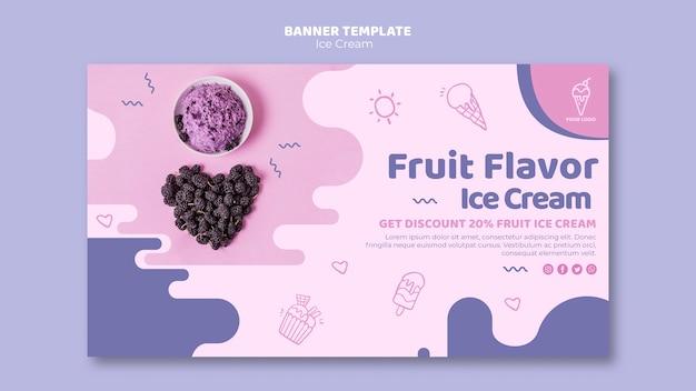 Plantilla de banner de tienda de helados