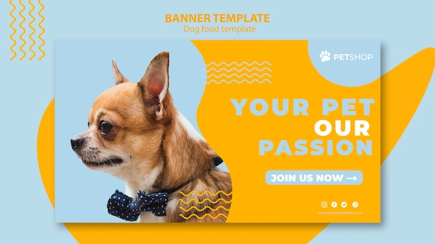Plantilla de banner para tienda de mascotas