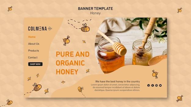 Plantilla de banner tienda de miel
