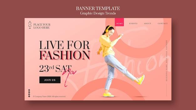 Plantilla de banner de tienda de moda
