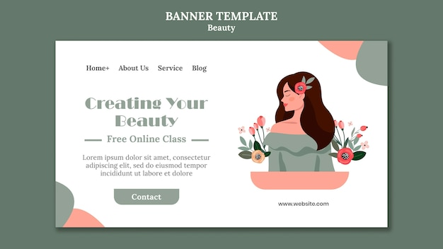 Plantilla de banner de venta de belleza