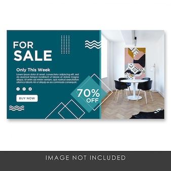 Plantilla de banner para venta de muebles