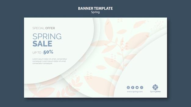 Plantilla de banner de venta de primavera