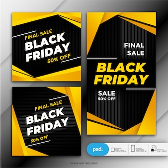 Plantilla de banner de venta de viernes negro
