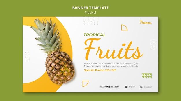 Plantilla de banner de vibraciones tropicales