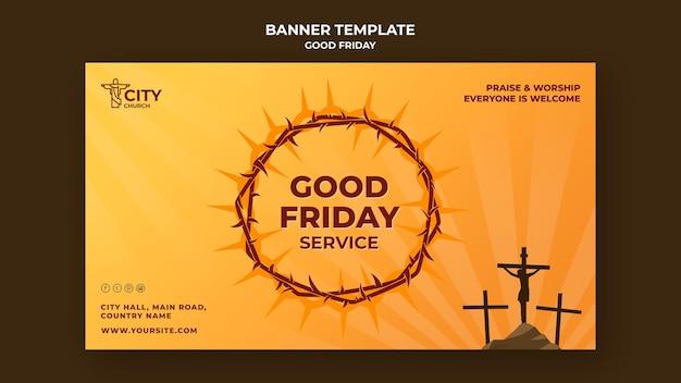 Plantilla de banner de viernes santo