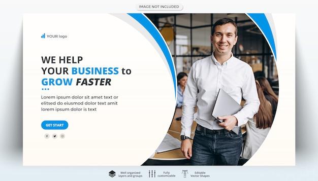 Plantilla de banner web creativo de negocios corporativos