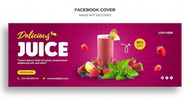 Plantilla de banner web y portada de línea de tiempo de facebook de comida deliciosa
